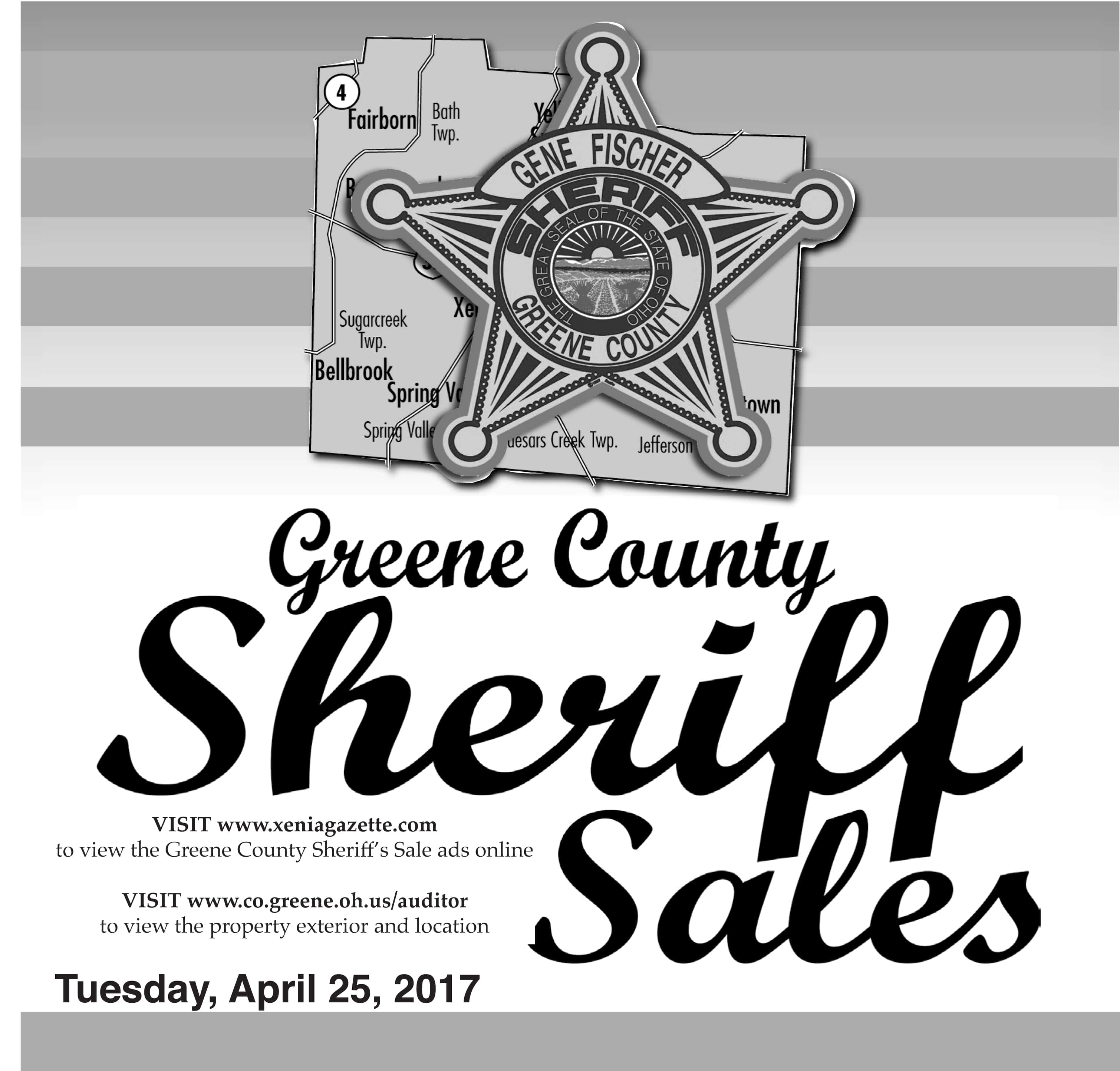 Sheriff Sales: April 25, 2017