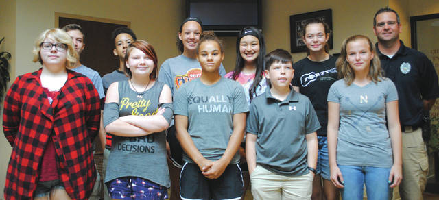 Whitney Vickers | Greene County News Ten local sixth, seventh, eighth and ninth grade students graduated June 15 from the Fairborn Police Department's Youth Academy Course.