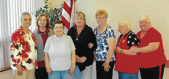 Submitted photo President Refugia Bowen, chaplain Marlene Colinot, ex. com. Judy Laflur, treasurer Ellen Slone=Farthing, ex. com. Carol Abney and Mecca Brzeczek and installing officer Sue Masten.