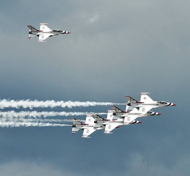 Major Ryan Bodenheimer is the Left Wing Pilot on the U.S. Air Force Thunderbirds flight demonstration team.