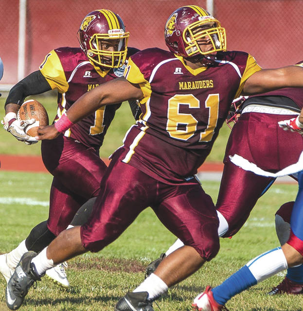 Central State University sophomore offensive lineman Darius Thomas (61) was selected as an all-Southern Intercollegiate Athletic Conference second team preseason football selection, July 11, by a panel of SIAC coaches and Sports Information Directors.