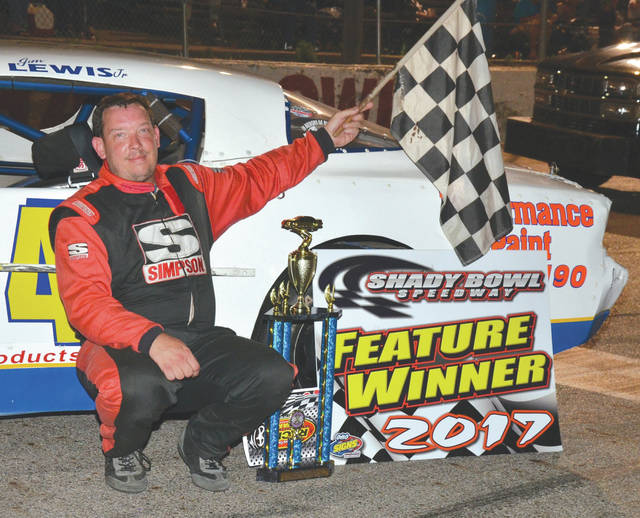 Jim Lewis Jr., of Fairborn, won the Street Stock feature at Shadybowl Speedway, July 8, in DeGraff. It's the second feature win for the veteran stock car racer this season.