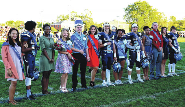 The homecoming court included freshman attendants Kiah Whack and Dwight Lewis III; sophomore attendants Mallory Shroyer and Jackson Coolman; junior attendants Carlyn Young and Tylen Eatmon; and senior attendants Thaliyah Cools-Lartigue and Tanner Souders, Amanda Floyd and Keegan Sperry, Malaya Rivers and Will Coleman, and Lauren Thomas and Dawson Blakely.