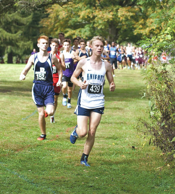 Senior Isaac Erlundson, of host Legacy Christian Academy (429), won the boys high school cross country race with a time of 18 minutes, 11 .7 seconds, at the annual Legacy Ambassador Classic, held Oct. 7 on the school and Athletes In Action Sports Complex grounds in Xenia.