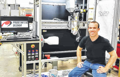 Submitted photo Biomedical engineering graduate and former WSU Raider athlete Sean Saffle turned his passion for engineering and prosthetics into a career.