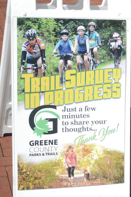Greene County Parks & Trails volunteers took a survey of people who used the Miami Valley region's 340 miles of bike trails recently.