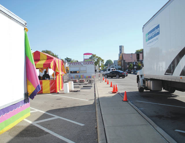 Whitney Vickers | Fairborn Herald The City of Fairborn will celebrate Halloween Oct. 20 - Oct. 22. Festival officials took time to set the scene before the festival kicked off.