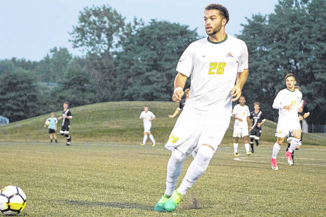 Submitted photo Wright State University soccer player Austin Kinley could give the Raiders an edge with his skills on both sides of the ball.