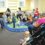 Kids gather for story time