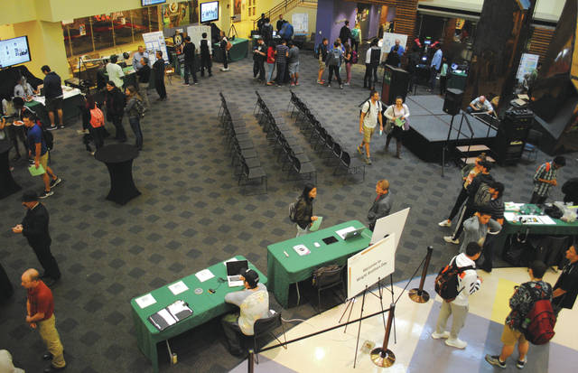 Whitney Vickers | Fairborn Herald Wright State University hosted Wright Brothers Day Oct. 5. The event recognized the past by celebrating the college's namesake and looked toward the future as it highlighted the future of aviation.