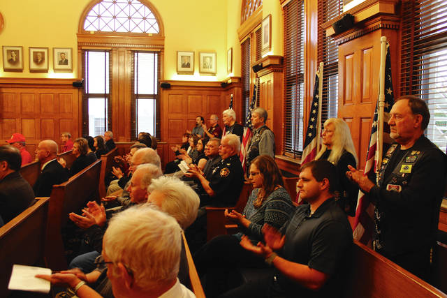 Anna Bolton | Greene County News A dedication ceremony was held for the new veterans' treatment court in Greene County Common Pleas Court Nov. 3. The specialized court gives a hands-on approach to helping veterans through the criminal justice system.
