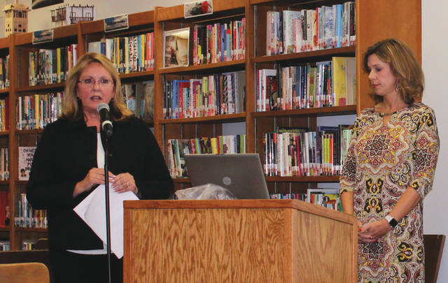 Linda Collins | Fairborn Herald Dr. Sue Brackenholf and Amy Gayheart discuss new Ohio graduation requirments for high school seniors.