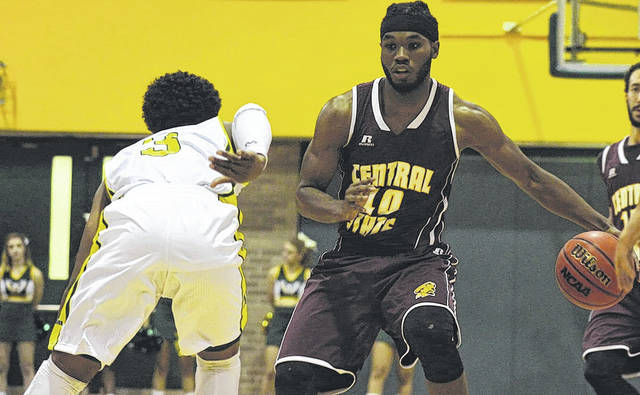 Submitted photo Frank Barber III takes the ball down the court.
