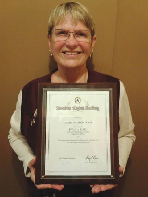 Submitted photo Pam Bates was recently recognized on a national level by the American Legion.