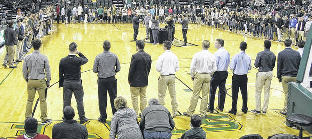 Submitted photo The Wright State men's basketball team maintained a 100 percent graduation rate.