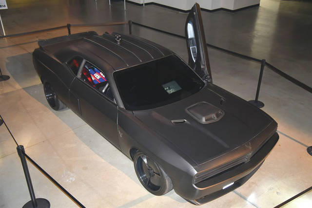 Submitted photo The Air Force's customized Vapor Special Ops Supercar on display in the museum's third building.