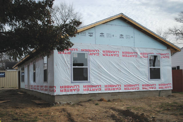 Whitney Vickers   Fairborn Herald The eighth Habitat for Humanity house in Fairborn and first women-build project in the community is moving along.