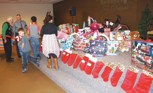 The Recovery Toy Drive had at least 30 sponsors who gave this holiday season.