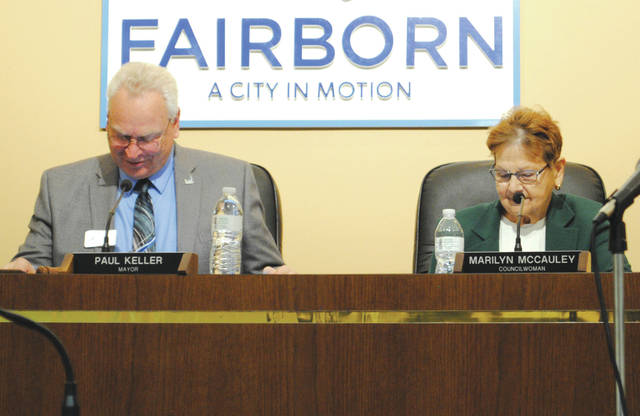 Whitney Vickers   Fairborn Herald Council member Marilyn McCauley accepted the nomination to serve as deputy mayor. She is pictured on the right alongside Fairborn Mayor Paul Keller (left).