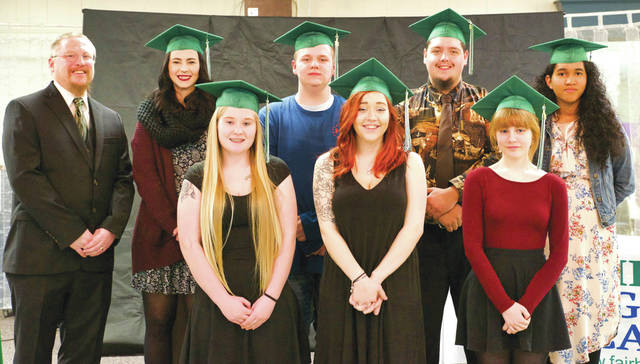 Submitted photo Seven seniors graduated Jan. 25 from the Fairborn Digital Academy.