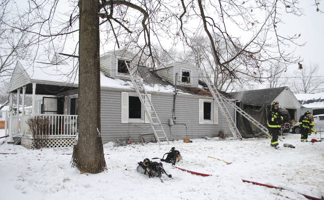 Photos by Whitney Vickers | Fairborn Herald A female was pronounced dead after a structure fire Jan. 15 on the 400 block of Forest Street in Fairborn.