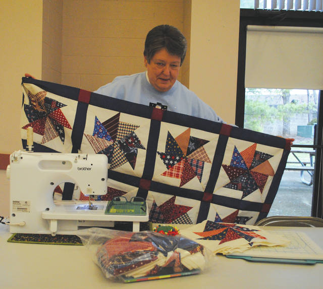 Whitney Vickers | Greene County News The Fairborn Senior Center is the home of the Miami Valley Quilting Guild from 11 a.m.-4 p.m. each Monday. There, quilters gather and share friendship, stories, lunch and quilting tips.