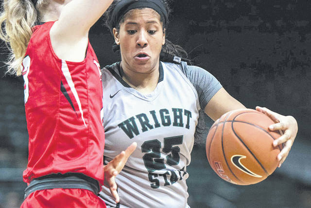 Submitted photo Senior forward Lexi Smith has become a solid post presence on the Wright State University women's basketball team.