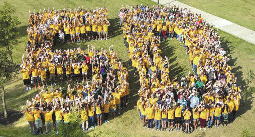 Submitted photo Wright State Univeristy celebrating its 50 anniversary in fall 2017.