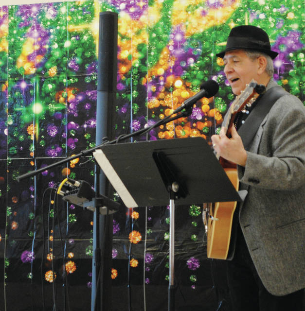 Art Casey a Fairborn Senior Center volunteer driver provided the entertainment for the event