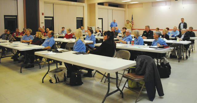 Whitney Vickers | Greene County News The Fairborn Military Veterans Committee hosted a meeting Jan. 24 to accept donations and explain details of the project.