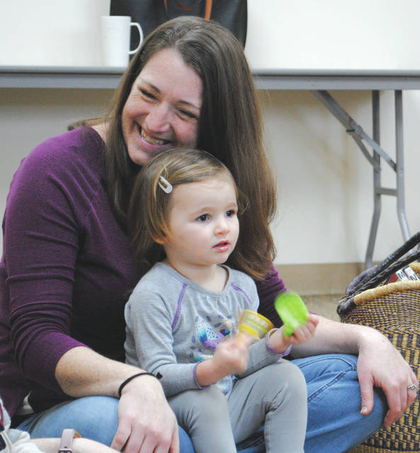 Whitney Vickers | Greene County News The Yellow Springs Community Library hosted Baby Song and Rhyme Time Feb. 28, inviting children 3-years-old and younger to enjoy simple songs, stories and rhymes.