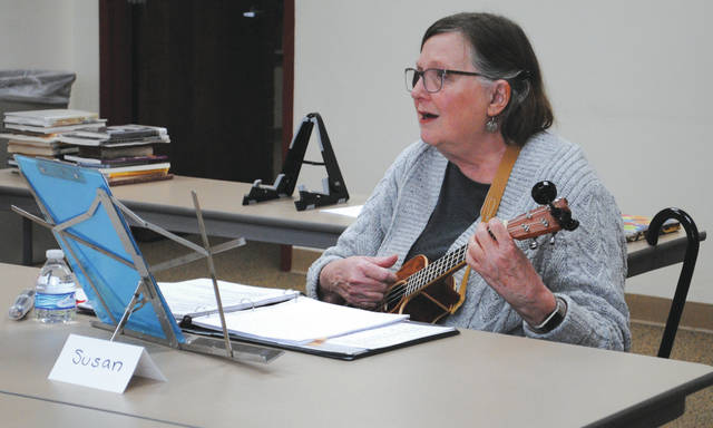 Whitney Vickers | Greene County News The Yellow Springs Community Library is hosting a songwriting workshop series, inviting all individuals who are interested in writing their own songs to receive guidance from Susan Wolf (pictured). Wolf said she started out as a poet but later realized that she was a songwriting instead.