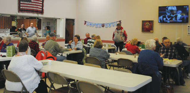 Whitney Vickers   Greene County News The Fairborn Senior Center hosted a Superbowl Tailgate Party Feb. 1 to gear-up for the Superbowl game slated for Sunday, Feb. 4. The party was complete with food, games and a previous recording of a game between the Carolina Panthers and Denver Broncos.
