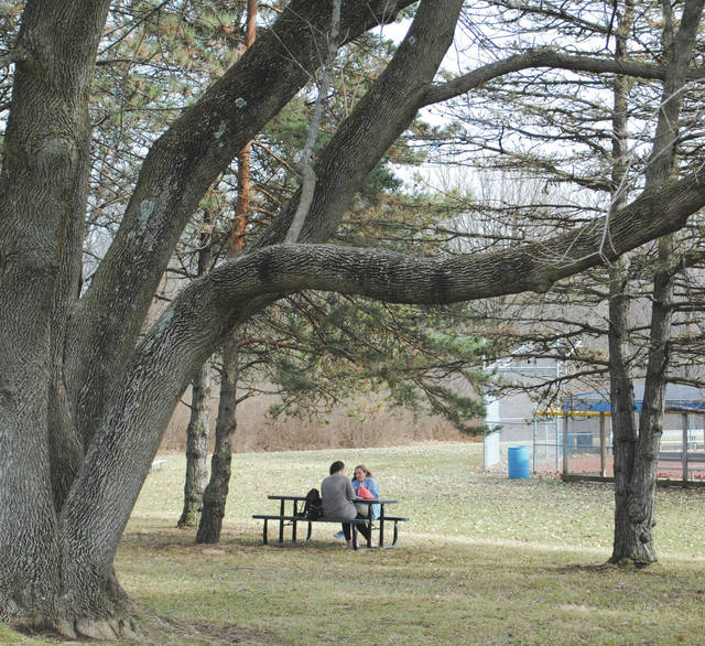 Whitney Vickers | Greene County News Temperatures climbed into the lower 70s Feb. 20, drawing Fairborn citizens outside to enjoy the first sign of spring.