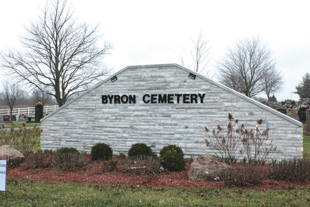 Linda Collins | Greene County News The annual spring cleanup of Byron Cemetery is underway officials are taking the necessary measures to have the cemetery grounds ready for the Easter holiday.