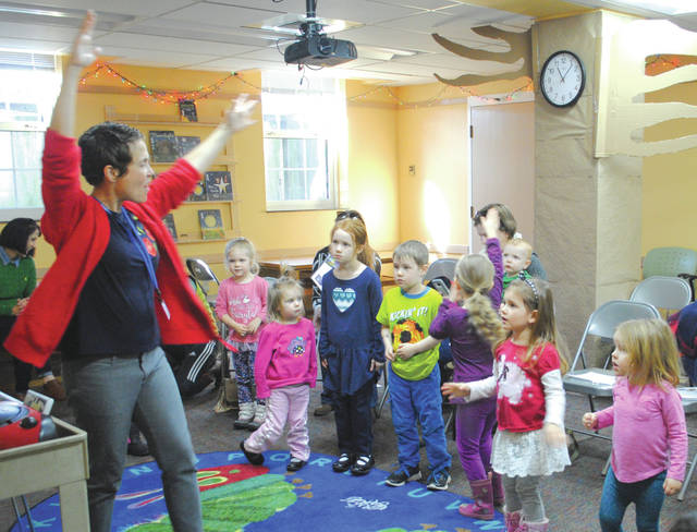 Whitney Vickers | Greene County News The Fairborn Community Library hosted STEM Discoveries March 22, inviting local children to learn about STEM-related topics among other kids near their own age.