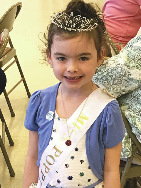 File photo Leah Snow was crowned Miss Poppy 2017 when she was 6-years-old and a kindergarten student at Wright Campus.