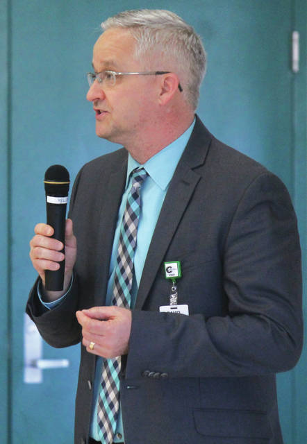 Anna Bolton | Greene County News Greene County Career Center Superintendent David Deskins announced March 22 on campus that new funding is anticipated to expand the career center's efforts in aerospace education and training.