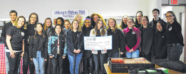 Whitney Vickers   Greene County News The Fairborn High School Interactive Club raised $2,000 worth of funds and goods to donate to the Fairborn FISH Food Pantry.
