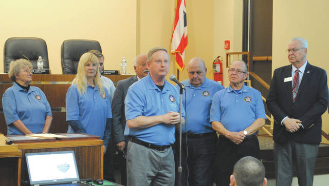 Whitney Vickers | Greene County News The Fairborn Military Veterans Memorial Project is halfway to meeting its financial goals after receiving funding from the State of Ohio. Pictured is the Fairborn Military Veterans Memorial Committee.