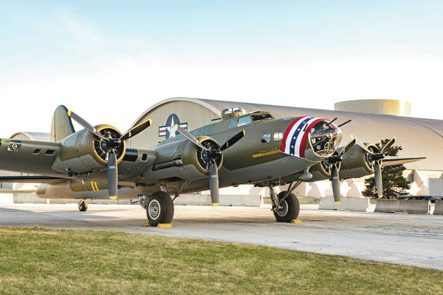 Don Tate   Greene County News The Memphis Belle was towed from the National Museum of the United States Air Force Restoration Hangar to the World War II Gallery before it opens to the public in May.