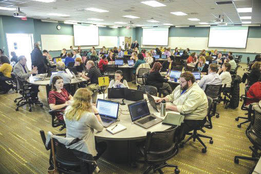 Submitted photo Nearly 100 members of the Wright State University community participated in the Feb. 27 Strategic Planning Community Dialogue.