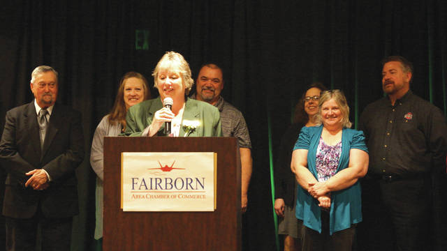 Barb Slone | Greene County News The Fairborn Area Chamber of Commerce hosted its annual banquet April 20, awarding individuals for their accomplishments over the last year. The Fairborn Senior Center was awarded the President's Award.