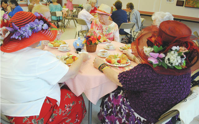 Whitney Vickers | Greene County News The Fairborn Senior Center, in partnership with Friends Care Yellow Springs, the Springfield Masonic Center, Elmcroft of Fairborn, Patriot Ridge, Heartland Hospice and DaySpring, hosted a Mother's Day tea May 14 complete with fine china, finger foods, a harpist and more.