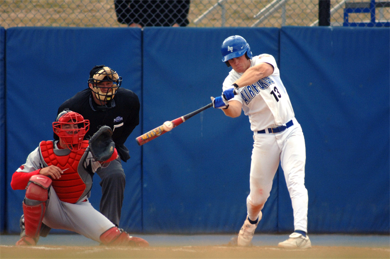 Submitted photo Karl Bolt, then a senior cadet at the U.S. Air Force Academy, connects on the first of his two home runs during a game March 22, 2007 against San Diego State. Bolt was selected by the Philadelphia Phillies in the 15th round of the 2007 Major League Baseball Amateur Draft June 8. Learn about the aerospace principles of throwing a curve ball at Family Day on Saturday, June 16