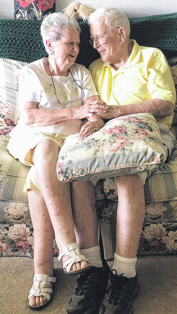 Scott Halasz | Greene County News Xenia residents Donald and Sadie Necina met in England during World War II, became engaged and then had to wait a year to get married.