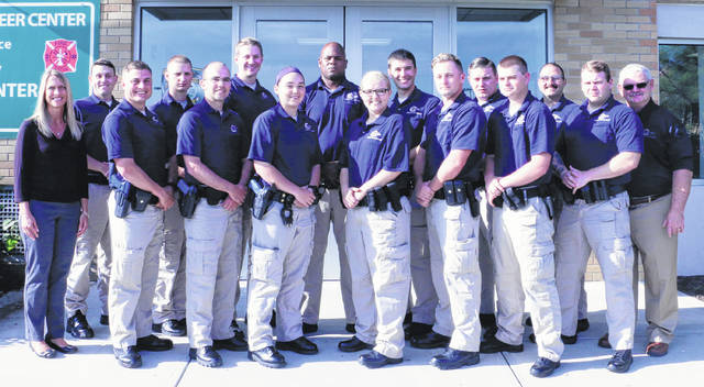 Submitted photo Greene County Career Center's newest cadets recently graduated from Adult Peace Officer Basic Training. They can now go on to test for certification through Ohio Peace Officer Training Academy (OPOTA).