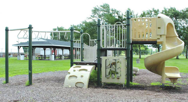 Linda Collins | Greene County News Bath Township trustees discussed replacing the playground equipment at the June 20 regular meeting.