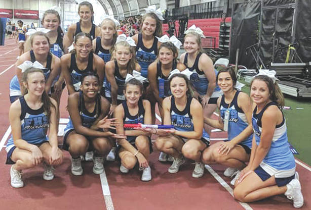 Submitted photo Fairborn City Schools's cheerleading program continues to shine as the Skyhawks won the top team chant and top spirit award at the Ohio State Cheer Camp 2018. Jessica Schneider received top all-American at NCA. Coaching staff includes Tavonne Bridges, Casey Gayheart Smith, Cherelle Flores, Jenna Fitch and Angie Harchick.