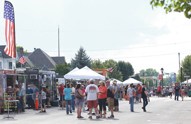 Barb Slone | Greene County News The City of Fairborn hosted its second annual Bluegrass and Brews festival Aug. 3, inviting three bluegrass bands, 14 food vendors and more to Main Street for toe-tapping and family-friendly fun.